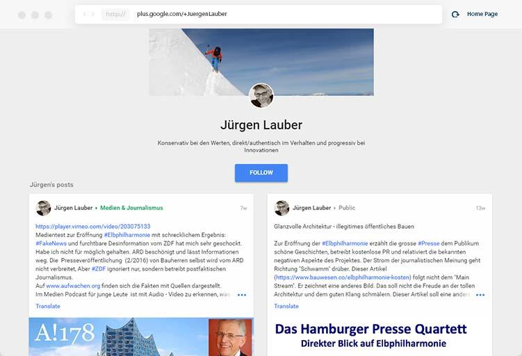 juergen lauber google plus