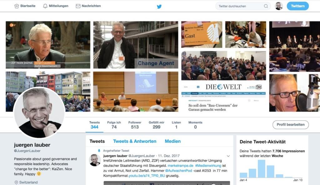 uergen Lauber auf Twitter Profil 1-2018