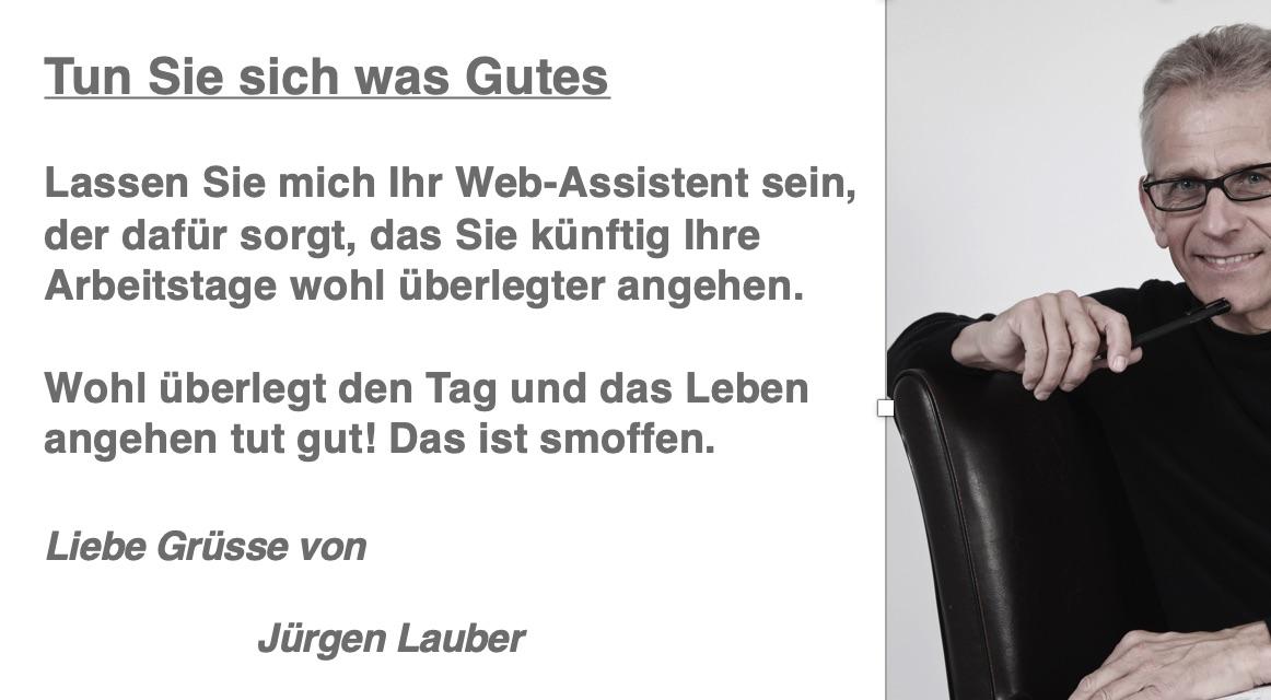 Smoffen Assistent Jürgen lauber